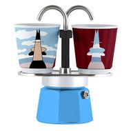 Bialetti Гейзерная кофеварка Mini Express Arte Magrite (90 мл), на 2 чашки