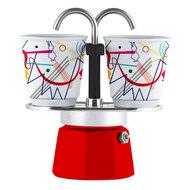 Bialetti Гейзерная кофеварка Mini Express Arte Kandinsky (90 мл), на 2 чашки