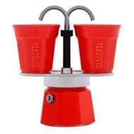 Bialetti Гейзерная кофеварка Mini Express (90 мл) на 2 чашки, красная