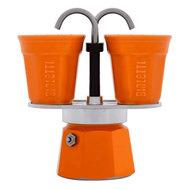 Bialetti Гейзерная кофеварка Mini Express, (90 мл) на 2 чашки, оранжевая