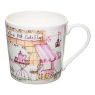Rose of England Кружка Уличное кафе - розовое чаепитие (415 мл), 9.4 см