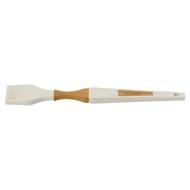 Guffman Кисть силиконовая с ручкой из бамбука, 31 см, белая
