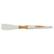 Guffman Лопатка силиконовая с ручкой из бамбука, 32.5 см, белая