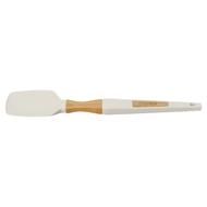 Guffman Лопатка силиконовая с ручкой из бамбука, 33 см, белая