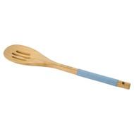Guffman Ложка с прорезями бамбуковая, 33 см,голубая