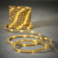 Luca lights Гирлянда Дюралайт, золото, 100 ламп, 8 функций, 5 м
