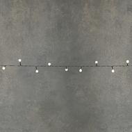 Luca lights Гирлянда Ягодки, 48 ламп, теплый белый свет, на темном проводе, 3.6 м, на батарейках