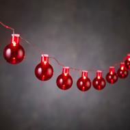 Luca lights Гирлянда Шарики красные, 20 ламп, 1.9 м, на батарейках
