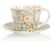 Dunoon Чашка чайная с блюдцем Аква.Айлей (350 мл)