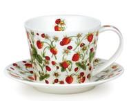 Dunoon Чашка чайная с блюдцем Земляника.Айлей (350 мл)