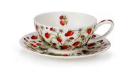 Dunoon Чашка чайная с блюдцем Клубника (250 мл)