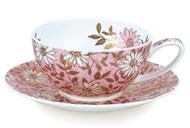 Dunoon Чашка чайная с блюдцем Нуово (250 мл), розовая
