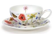 Dunoon Чашка чайная с блюдцем Полевые цветы (250 мл)