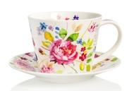 Dunoon Чашка чайная с блюдцем Садовая роза.Айлей (350 мл)