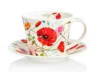 Dunoon Чашка чайная с блюдцем Садовый мак.Айлей (350 мл)