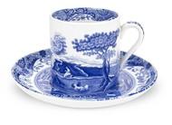 Spode Чашка кофейная с блюдцем Голубая Италия (90 мл)