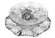 Queen Anne Вазочка для варенья с ложкой на подносе, 17.5 см