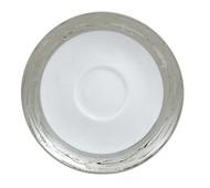 Porcel Блюдце Olympus Argentatus, 15 см, белое