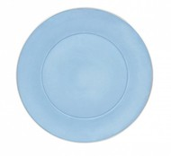 Porcel Тарелка десертная Ptala Simples Silver Rain, 23 см, голубая