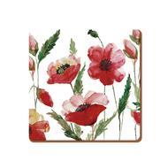 Creative Tops Подставка пробковая Watercolour Poppy, 10х10 см, 6 шт