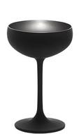 Stolzle Бокал для шампанского Elements (230 мл), 9.5х14.7 см, черный/серебряный