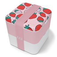 Monbento Ланч-бокс Square strawberry, 14.3х14.3х14.8 см