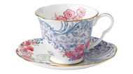 Wedgwood Чашка чайная с блюдцем Бабочки и цветы (180 мл)
