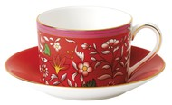 Wedgwood Чашка чайная с блюдцем Вандерласт Малина (150 мл)