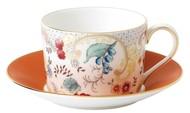 Wedgwood Чашка чайная с блюдцем Вандерласт Цветы (150 мл)