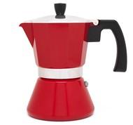 Leopold Vienna Гейзерная кофеварка Tivoli (310 мл), на 6 чашек, красная