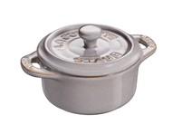 Staub Мини-кокот круглый Ceramic, 10 см, античный серый
