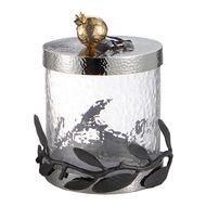Michael Aram Банка для сыпучих продуктов Оливковая ветвь.Золотой гранат, 13 см