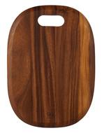 SKK Доска разделочная овальная, 36х26х1.5 см, темное дерево
