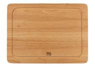 SKK Доска разделочная прямоугольная без ручки с желобом, 40.5х30.5х2 см, светлое дерево