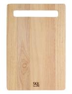 SKK Доска разделочная прямоугольная, 33х23х2 см, светлое дерево