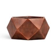 Кашпо Ergo Rombo Низкая чаша-многогранник, 28х58 см, состаренная медь