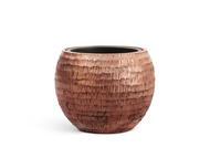 Treez Кашпо Effectory Metal Полусфера, 32х40 см, чеканная розовая медь
