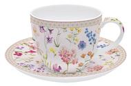 Easy Life (R2S) Чашка с блюдцем Цветочная симфония (200 мл)