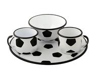 Emalia Olkusz Набор посуды Мяч, 4 пр., белый