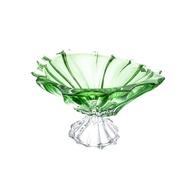 Aurum Crystal Фруктовница на ножке Plantica, 33 см, зеленая