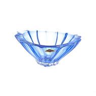 Aurum Crystal Конфетница Plantica, 22 см, синяя