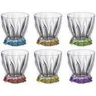 Aurum Crystal Набор стаканов для виски ассорти Plantica (320 мл), 6 шт.