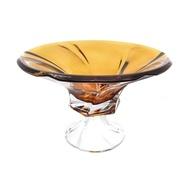 Aurum Crystal Фруктовница на ножке Mozart, желтая
