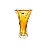 Aurum Crystal Ваза для цветов Mozart, 32 см, желтая