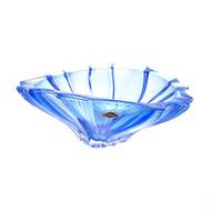 Aurum Crystal Фруктовница Plantica, 33 см, синяя