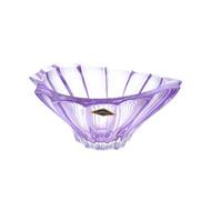 Aurum Crystal Конфетница Plantica, 22 см, фиолетовая