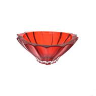 Aurum Crystal Конфетница Plantica, 22 см, красная