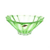 Aurum Crystal Конфетница Plantica, 22 см, зеленая