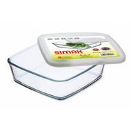 Simax Форма квадратная с пластиковой крышкой (1.7 л)