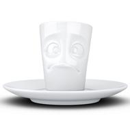 Tassen Кофейная чашка с блюдцем Buffled (80 мл), белая